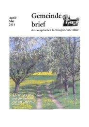 Gemeindebrief April/Mai 2011 - Evangelische Kirche Asslar