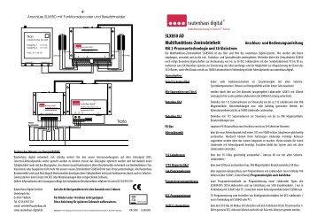 Anleitung zur Multifunktions-Zentrale SLX850AD - MDVR