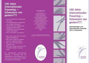 Flyer zum Internationalen Frauentag 2011 (pdf) - Frauen- und ...
