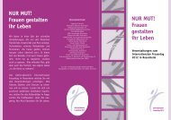 Flyer Internationaler Frauentag - Stadt Rosenheim