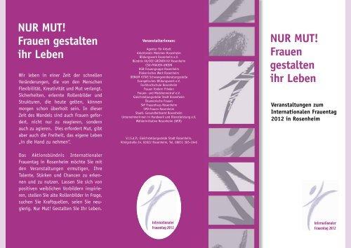 Flyer Internationaler Frauentag - Stadt Rosenheim