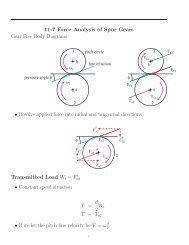 11-7 Force Analysis of Spur Gears Gear Free Body Diagrams ...