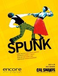 Read Spunk Program - California Shakespeare Theater