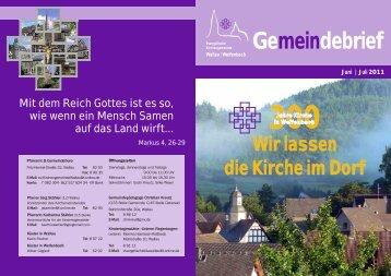 Gemeindebrief 3_2011 - Kirchengemeinde Wallau-Weifenbach