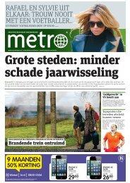 Grote steden: minder schade jaarwisseling - Metro