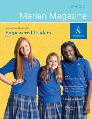 Marian Magazine - Marian High School