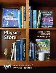 Physics Store - American Association of Physics Teachers
