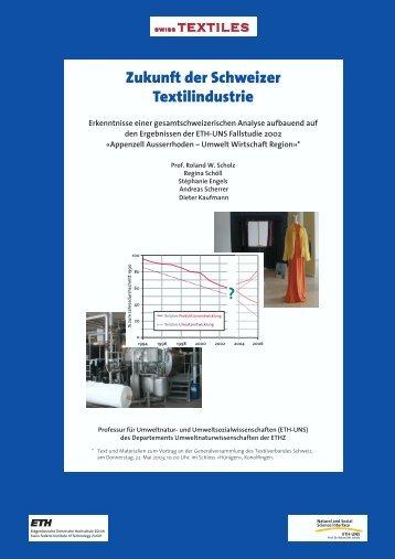 Zukunft der Schweizer Textilindustrie ? - ETH Zürich