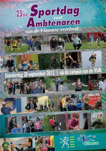 Brochure Sportdag voor Ambtenaren - Bloso