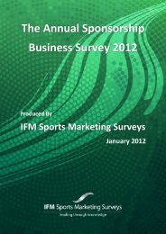 The Annual Sponsorship Business Survey 2012 - Sporsora