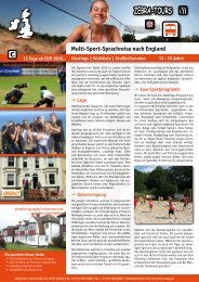 Multi-Sport-Sprachreise nach England - Zebra-Tours