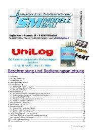 SM Anleitung UniLog v1.18.pdf - SM-Modellbau