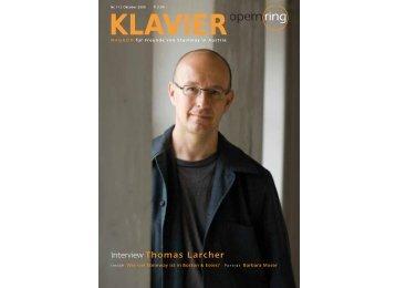 Interview Thomas Larcher - Steinway in Austria