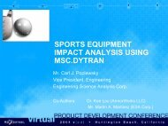 SPORTS EQUIPMENT IMPACT ANALYSIS USING ... - MSC Software