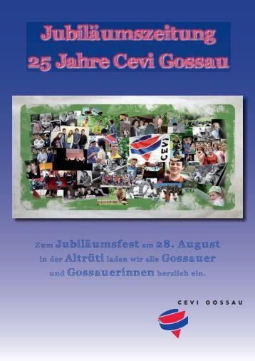 Jubiläumszeitung 25 Jahre Cevi Gossau
