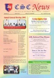 Newsletter - Jul-Aug-Sep- 2002 - Ceylon Sports Club