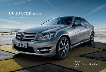 Download the C-Class Coupé price list - Inchcape Mercedes-Benz