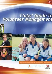 Clubs' Guide to Volunteer Management - ClubsOnline