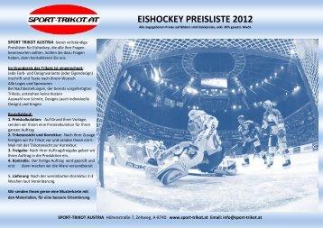 EISHOCKEY PREISLISTE 2012 SPORT TRIKOT AUSTRIA bietet ...