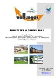 UMWELTERKLÄRUNG 2012 - Zellinger