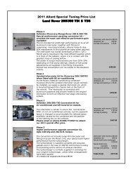 2011 Special Tuning Price ListLR - Allard Turbo Sport