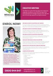 ENROL NOW! - Whitireia Community Polytechnic