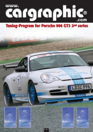 Tuning-Program for Porsche 996 GT3 2nd series Tuning-Program ...