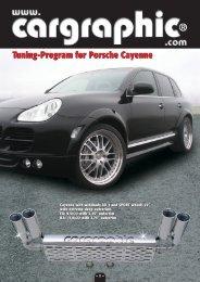 Tuning-Program for Porsche Cayenne