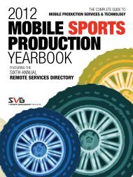 Mobile Production Yearbook - Sports Video Group