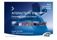 INTERACTIVITY & SPORTS - HbbTV