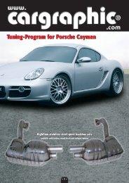 Tuning program for Porsche Cayman (2.3 mb) - Weltmeister