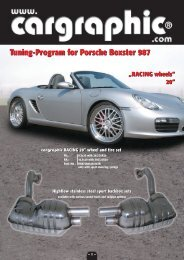 Tuning program for Porsche Boxster 987 (1.6 mb - Weltmeister