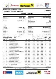 Offizielle Rangliste - ALGE Timing Tirol