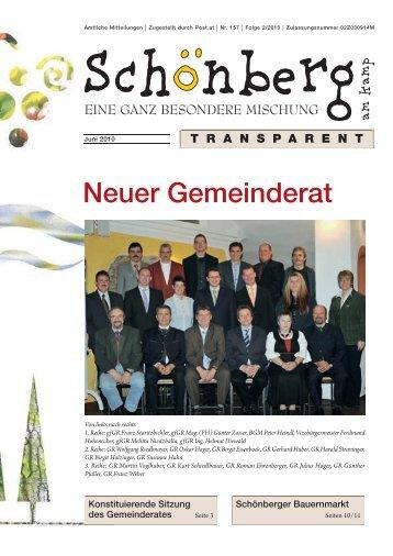 Neuer Gemeinderat - Gemeinde Schönberg am Kamp