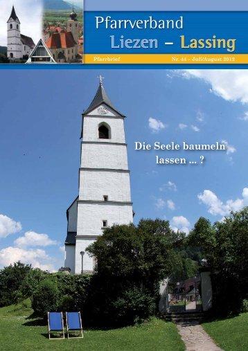Pfarrbrief Juli-August 2012 - Pfarrverband Liezen