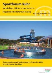 Masterplan Sport Ruhr - Metropole Ruhr