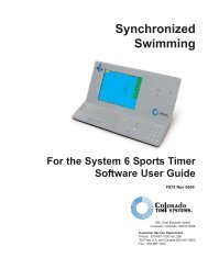Synchronized Swimming - Colorado Time Systems