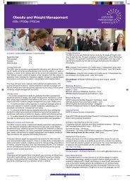 Obesity and Weight Management - London Metropolitan University