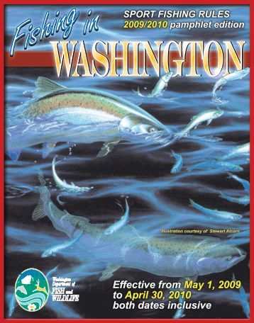 Rules and regulations f1 in schools for Fishing season washington