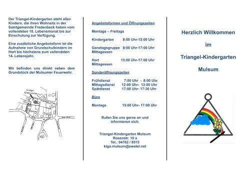 Triangel Kindergarten Mulsum Samtgemeinde Fredenbeck