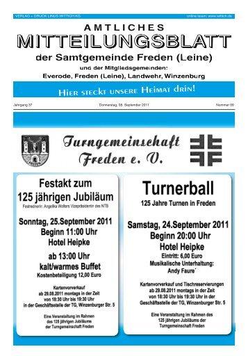 Jahrgang 37 Donnerstag, 08. September 2011 Nummer 09