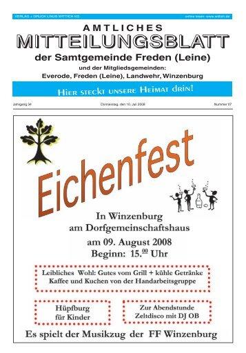 Zielsichere Werbung - Samtgemeinde Freden