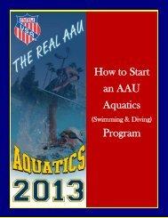 2013 Aquatics - Cover page Start a Program Booklet - AAU