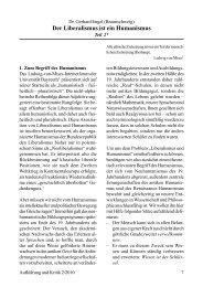 Dr. Gerhard Engel Der Liberalismus ist ein Humanismus