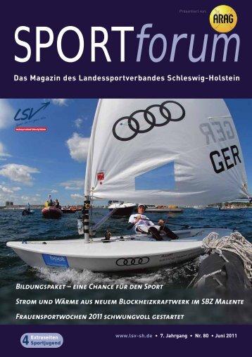 Das Magazin des Landessportverbandes Schleswig-Holstein ...