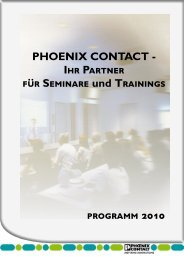 programm 2010 PHOENIX CONTACT - Ihr Partner für Seminare und ...