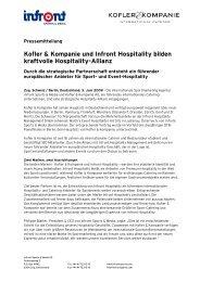 Kofler & Kompanie und Infront Hospitality bilden kraftvolle ...
