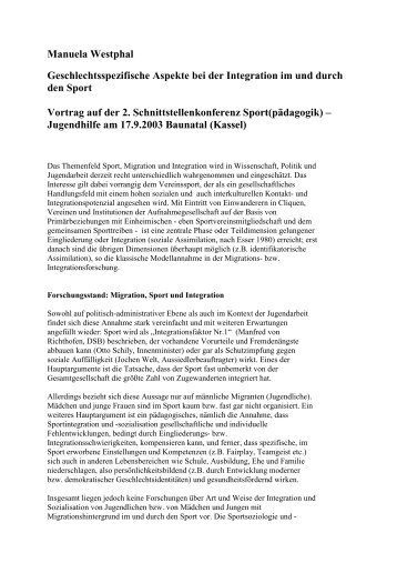 Manuela Westphal Geschlechtsspezifische Aspekte bei der ...