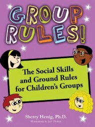 Group Rules - Dr. Sherry Henig