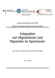 Integration von Migrantinnen und Migranten im Sportverein